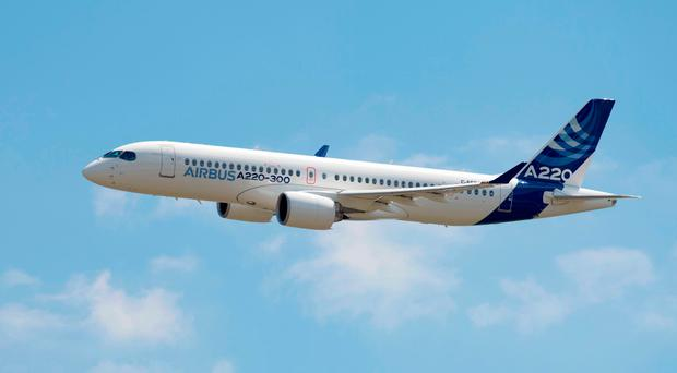 The A220, the new name for the C Series, launched in Toulouse yesterday