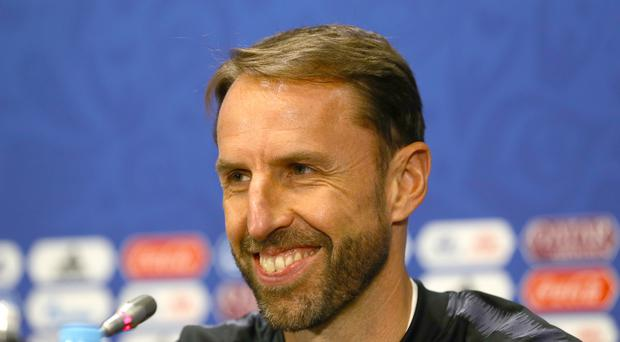 England manager Gareth Southgate during the press conference at the Luzhniki Stadium Moscow