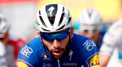 Easy rider: Fernando Gaviria edged the Tour's second stage