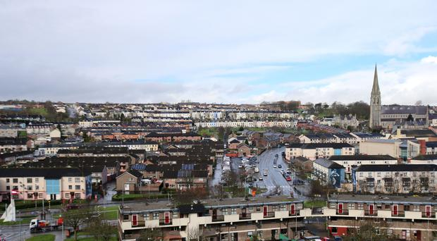 A general view of the Bogside area of Londonderry (Niall Carson/PA)