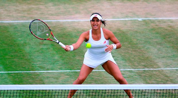 Outburst: Heather Watson was accused of swearing on court