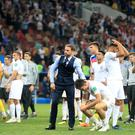 England manager Gareth Southgate consoles his players (Adam Davy/PA)