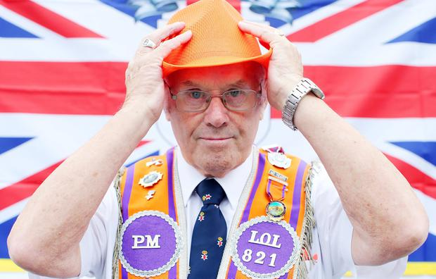 Annual Orange Order parade takes place in Belfast with lodges and bands making their way through the city centre to the field at Shaws Bridge. Picture by Jonathan Porter/PressEye