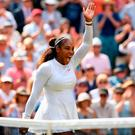 Grand finale: Serena Williams celebrates after earning a shot to equal Margaret Court's record of 24 Slam titles