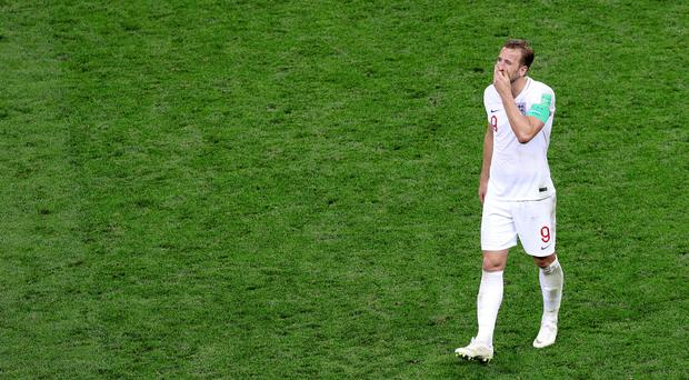 England's Harry Kane is dejected after the semi-final defeat by Croatia (Aaron Chown/PA)