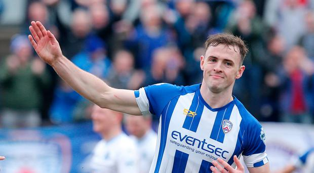 First blood: Darren McCauley hit the opener for Coleraine