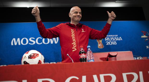 Gianni Infantino has thanked Russia for being perfect hosts (Francisco Seco/AP)