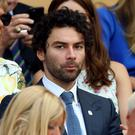 Aidan Turner was in the Royal Box (Nigel French/PA)