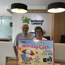 Kathleen won the top prize of 25,000 on the National Lottery scratch card, Holiday Cash.