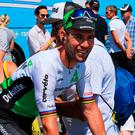 Tough time: Mark Cavendish has been out of the action