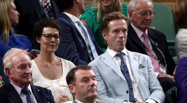 Helen McCrory and Damian Lewis were in the royal box (John Walton/PA)