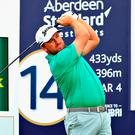 Fighting on: NI ace Graeme McDowell is still in the mix
