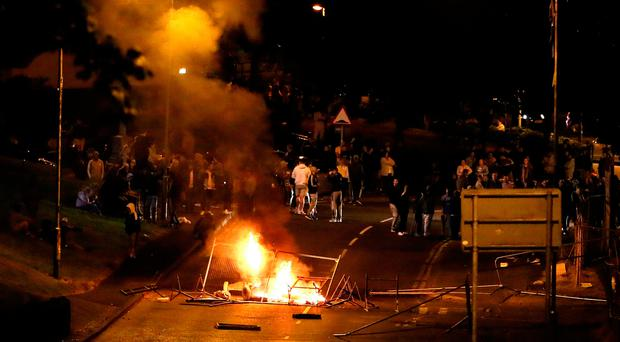 Rioting on Fahan Street