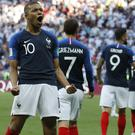 Kylian Mbappe showed his quality with two goals in France's World Cup win over Argentina. (David Vincent/AP)