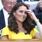The Duchess of Cambridge ready for action on Centre Court (John Walton/PA)