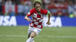 Croatia's Luka Modric in action in the World Cup final (Petr David Josek/AP)