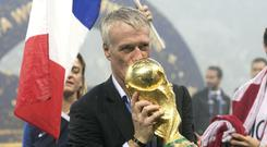 Didier Deschamps got his hands on the trophy again after captaining France to victory in 1998 (Owen Humphreys/PA)