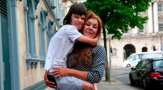 Billy Caldwell with his mum, Charlotte
