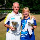 Double joy: Robert and Elaine Hastings won Mixed Pairs