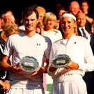 Mixed emotions: Jamie Murray and Victoria Azarenk