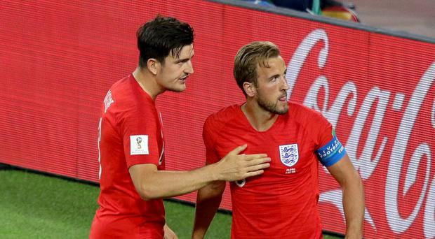 Harry Kane, right, and Harry Maguire both had a fine tournament (Aaron Chown/PA)