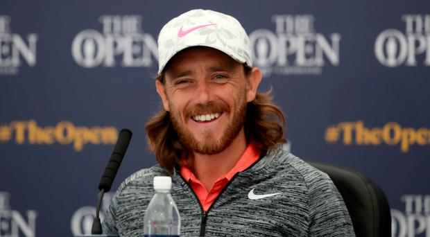 Confident: Tommy Fleetwood holds the course record