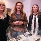 Kurt Cobain's mother Wendy O'Connor, daughter Frances Bean Cobain and sister Kim Cobain (Brian Lawless/PA)