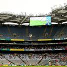 Poor showing: A host of empty seats during Galway v Kerry