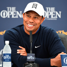 Looking ahead: Tiger Woods calm and relaxed at yesterday's press conference