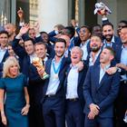 Just champions: the French team's World Cup celebrations in full swing with President Macron and his wife Brigitte in Paris