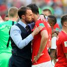 Making strides: Gareth Southgate impressed at the World Cup, and he has the talent coming through to keep moving forward