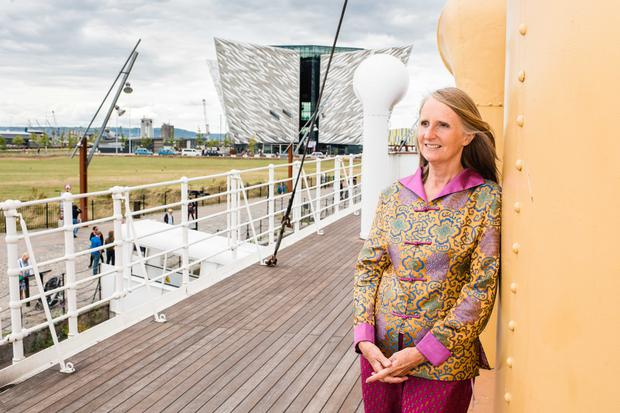 Janet Rostron on board SS Nomadic
