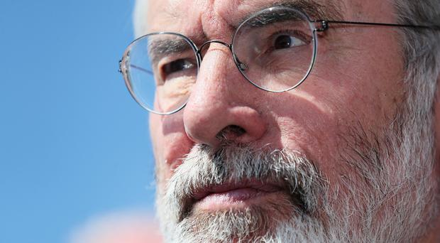 The home of former Sinn Fein president Gerry Adams was attacked (Brian Lawless/PA)