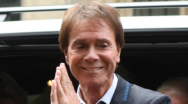 Cliff Richard arrives at the Rolls Building in London (Victoria Jones/PA)