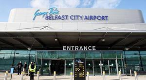 A plane had made an emergency landing at Belfast City Airport.