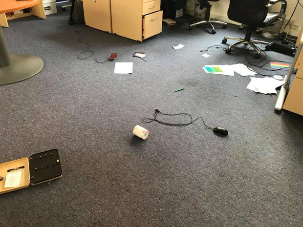 The group's office was ransacked.