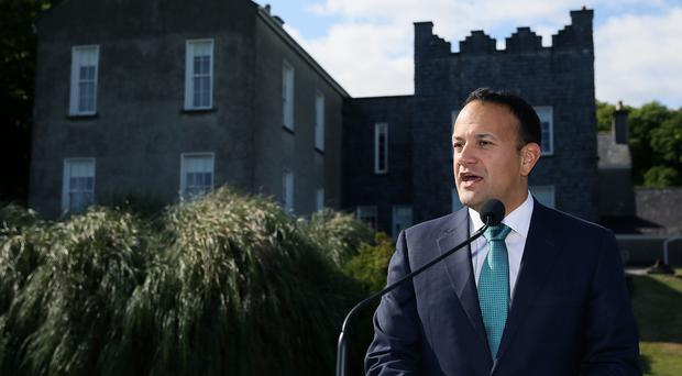 Leo Varadkar speaks to the media at Derrynane House (Brian Lawless/PA)
