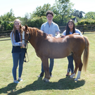 Jenny Gregg, Fergal Kelly and Erin McEvoy with horse Elvis as they prepare to travel to Philadelphia to pitch Crafted Equestrian to international investors