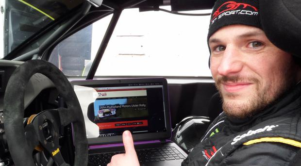 Good practice: Jonny Greer is ready for the Down Rally
