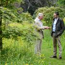 Gardeners' World presenter Adam Frost interviews the Prince of Wales at Highgrove (BBC/PA)