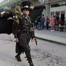 Dean LeCrone, of San Diego, wears his Dr Artemus Peepers costume at Comic-Con (Chris Pizzello/Invision/AP)