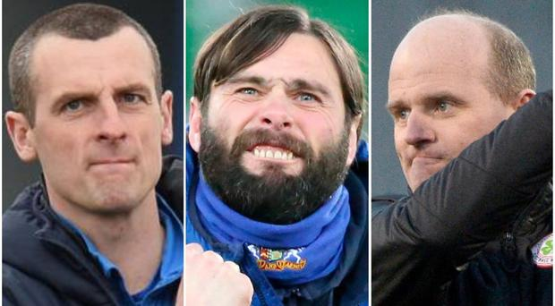 Oran Kearney, Gary Hamilton and Barry Gray are hoping their sides can increase their Euro jackpot tonight.