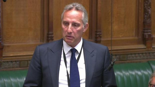 Ian Paisley in the House of Commons.