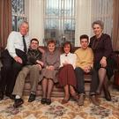 The Paisley family at home in 1988. From left to right Ian Junior, Cherith, Rhonda, Kyle. Pic Pacemaker