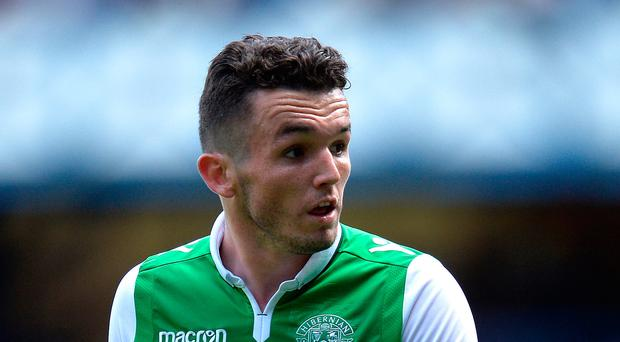 On target: John McGinn scored on his return for Hibernian