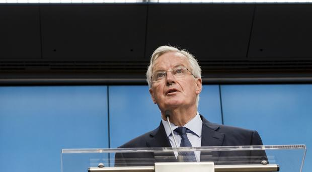 Michel Barnier said the white paper has opened the way for 'constructive discussions' (AP Photo/Geert Vanden Wijngaert)