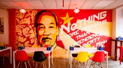 The Saigon-style interior of the Vietnamese Coffee Co on Belfast's Great Victoria Street