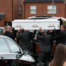 The funeral of Seaneen McCullough, a nurse who fell from a balcony while on holiday in Turkey last week took place withRequiem Mass in Corpus Christi Church, Ballymurphy, West Belfast. Matt Mackey, Presseye