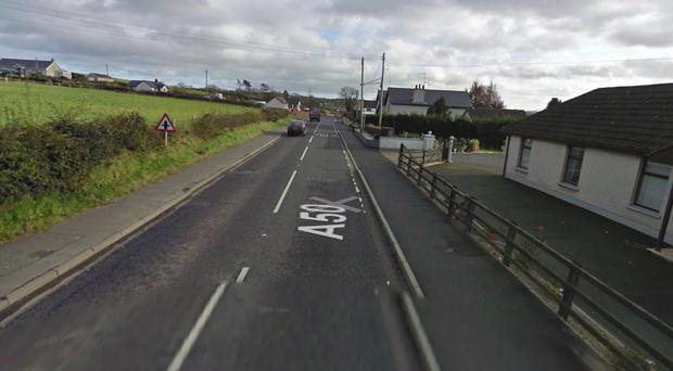 The crash happened near The Corbet. Pic Google Maps