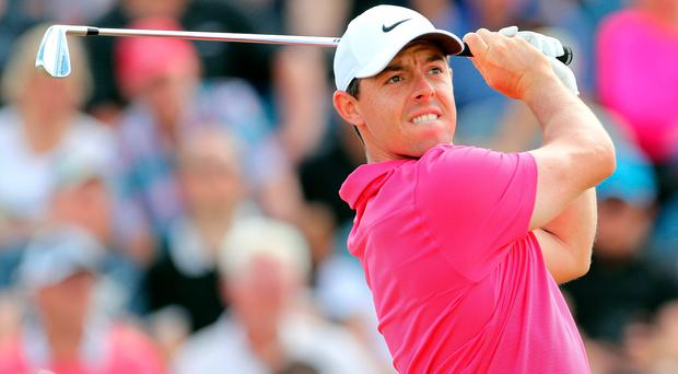 Northern Ireland's Rory McIlroy during the final round of the Open Championship.
